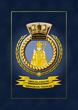 HMS GLASGOW SHIPS BADGE/CREST - HUNDREDS OF HM SHIPS IN STOCK