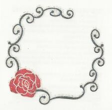GLITTER Belly Button Red Rose Temporary Tattoo