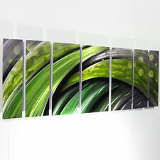 Modern Contemporary Abstract Metal Wall Art Sculpture Green Painting Large Decor