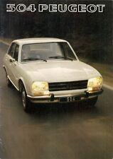 Peugeot 504 Saloon 1976-77 UK Market Sales Brochure L GL Ti