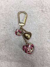 Louis Vuitton Porte Cles Leopard Heart Keychain Tag Charm