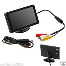 """MONITOR RETROMARCIA LCD 3.5"""" POLLICI PER TELECAMERA CON STAFFA FORMATO 16:9"""