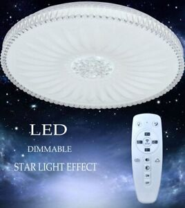 Dimmable RGB 48W LED Ceiling Lights Bedroom Lamp Chandeliers W/Remote Control