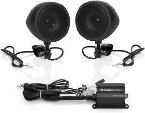 Boss Audio 600w Bluetooth Speakers Amplifier Handlebar System Motorcycle ATV UTV
