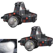 2X Zoomable T6 LED 1000 Lumens 3-Mode Headlamp Fishing Head Light Flashlight