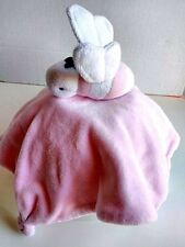 Burts Bees Baby Lovey Security Blanket Plush Bee White Pink 2015 Toy