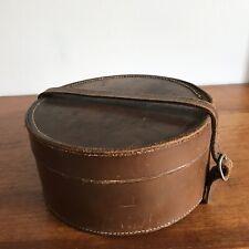 Vintage Round Leather Collar Box Jewellery Trinkets