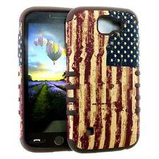 For LG K3 - HARD&SOFT RUBBER HYBRID ARMOR IMPACT SKIN CASE COVE AMERICA USA FLAG