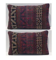"Home decorative Kurdish kilim pillows 2 pillow cover vintage area 2 rugs 20""x12"