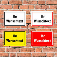 Schild Ihr Wunschtext - 4 Größen  S00100-018 - personalisiert Wunsch Text
