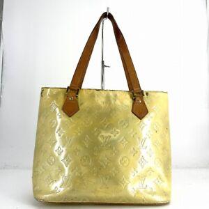 Louis Vuitton Houston M91053 Tote Bag Yellow Hand bag Vernis # DW195-119