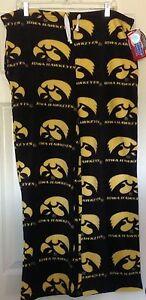 NWT, Women's Iowa Hawkeyes Fleece Lounge Pajama Pants, size small, black/yellow