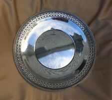 """Watson Co. Sterling Silver Reticulated Openwork 10"""" Plate L17 , 249Grams"""