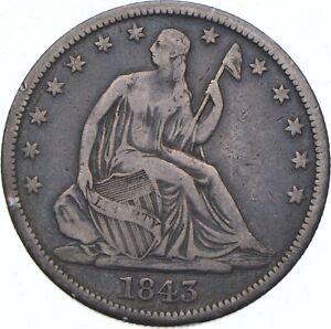 1843-O Seated Liberty Half Dollar - TC *371