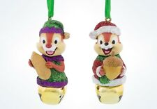 Disney Parks Chip And Dale Christmas Jingle Bells Ornament New With Tags