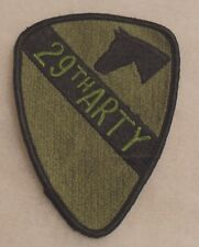 "VIETNAM ERA PATCH 1ST CALVARY ""29TH ARTY"" MADE W/ PATCH SUBDUED ME  WHITEBACK"