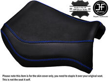 GRIP CARBON ROYAL BLUE STITCH CUSTOM FITS YAMAHA MT 03 06-14 FRONT SEAT COVER