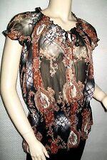 Tunique GAPA en voile multicolore, plissé élastique  Taille 34/36/38/40  Neuve+
