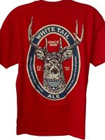 Columbia PHG mens large t shirt red Whitetail Ale crew neck short sleeve