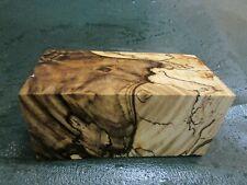 SPALTED HACKBERRY DELUXE KNIFE BLOCK/SCALES/ CALLS/ PEN BLANKS--H--8