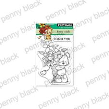 PENNY BLACK RUBBER STAMPS CLEAR FLOWER TEDDY NEW MINI clear STAMP