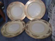Noritake Occupied Japan Gold Encrusted Dinner Plate Set of 4 Hard to Find WOW !