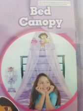 Nick Jr Dora the Explorer Kids Purple Bed Canopy Tulle Whimsy Decor