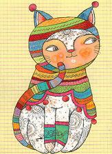 Kunstkarte / Postcard Art - Selda Soganci: Gartenkatze