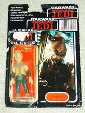 Vintage Star Wars 1985 RARE YAK FACE TRI-LOGO 70 BACK CARD MOC POTF AFA IT!