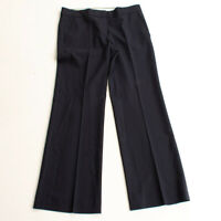 Womens Theory Emery Tailor Trouser Dress Pants In Navy Blue Size 8