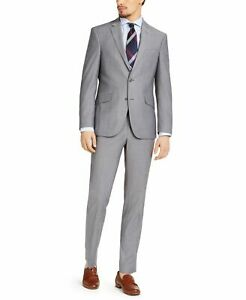 Kenneth Cole Reaction Mens Suits Gray Size 40 R 33X32 Slim Stretch $350 051