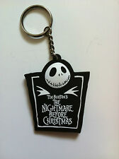 THE NIGHTMARE BEFORE CHRISTMAS Jack Rubber KEYCHAIN NEW OFFICIAL MERCHANDISE