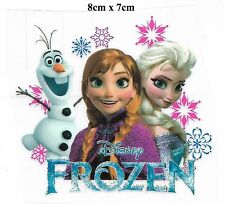 DIY Iron-on Sticker (8 x 7cm) is0703 Snow Queen FROZEN Elsa Anna Olaf