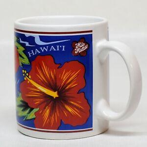 Hilo Hattie Hawaii Ceramic Coffee Mug Hibiscus Flower 12 Ounce 1997