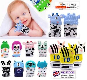 New Baby Silicone Teething Mitten Glove Soft Candy Wrapper Teether BPA Free UK