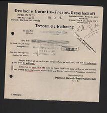Berlín, carta 1930, garantía alemana-almacén-GmbH tresormiete
