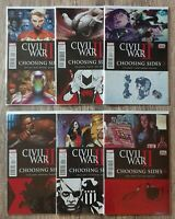 Civil War 2 Choosing Sides 1 2 3 4 5 6 VF/NM Conplete Run 6 book lot