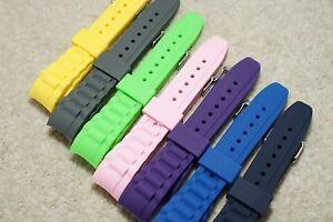 Silicone Remplacement Bracelet Montre Compatible Avec Glace Courbé Fin 17mm 20mm