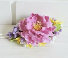 Flower Hair HANDCRAFTED Fashion polymer floral polymer clay Barrette HANDMADE
