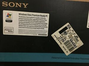 SONY VAIO VGN130G/B WINDOWS VISTA PREMIUM READY PC EUC