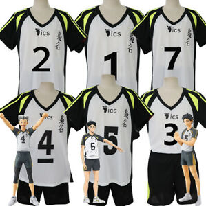 Haikyuu! Fukurodani Academy Jersey Uniform Cosplay Costume Top+ Shorts Full Set