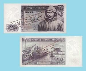 Poland 500 Zlotych 1939.  UNC - Reproductions