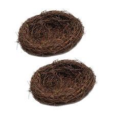2x 20cm Wild Grass Nest Bird Nest House Handmade Vine Nature for Candy Eggs