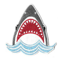 Shark - Fishing - Ocean - Aquatic - Land Shark - Fully Embroidered Iron On Patch