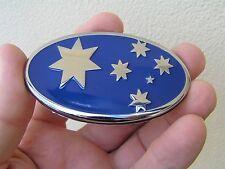 AUSSIE 75mm BLUE SOUTHERN CROSS FLAG BADGE - Metal Emblem HOLDEN *Factory 2nd*