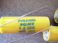 PYRAMID 1.0 uf 200V VITAMIN Q TYPE PAPER IN OIL  CAPACITOR