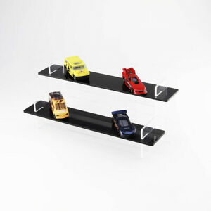 Toy Model Car Tiered Display Stand - Matchbox - Hot Wheels - Black Shelves