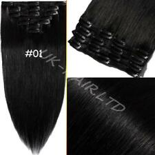 """7 Pcs 15""""/18""""/20"""" Clip In Real Remy Human Hair Extension Full Head US Sale U685"""