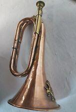 Trompette en cuivre de la cavalerie canadienne utilisée pour sonner la charge