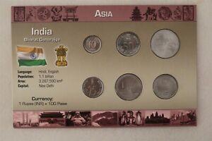 INDIA COIN SET WITH COA B38 #29